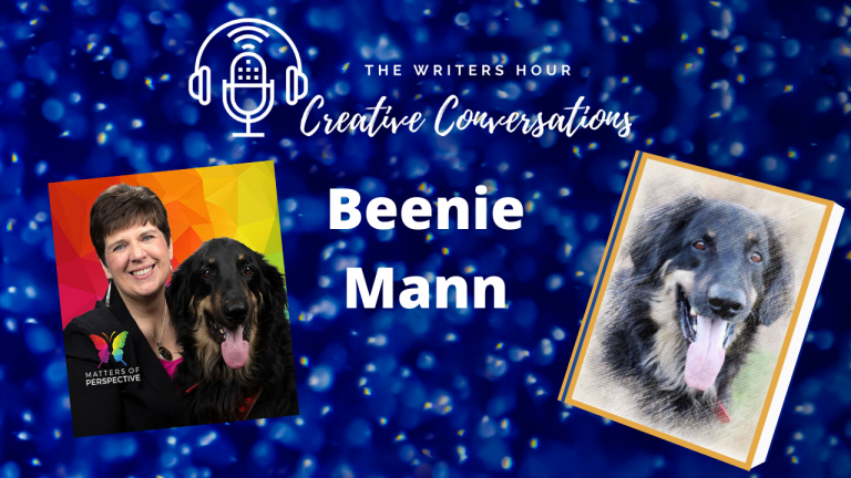Beenie Mann with Mo the Service Dog on The Writers Hour - Creative Conversations with Janine Bolon